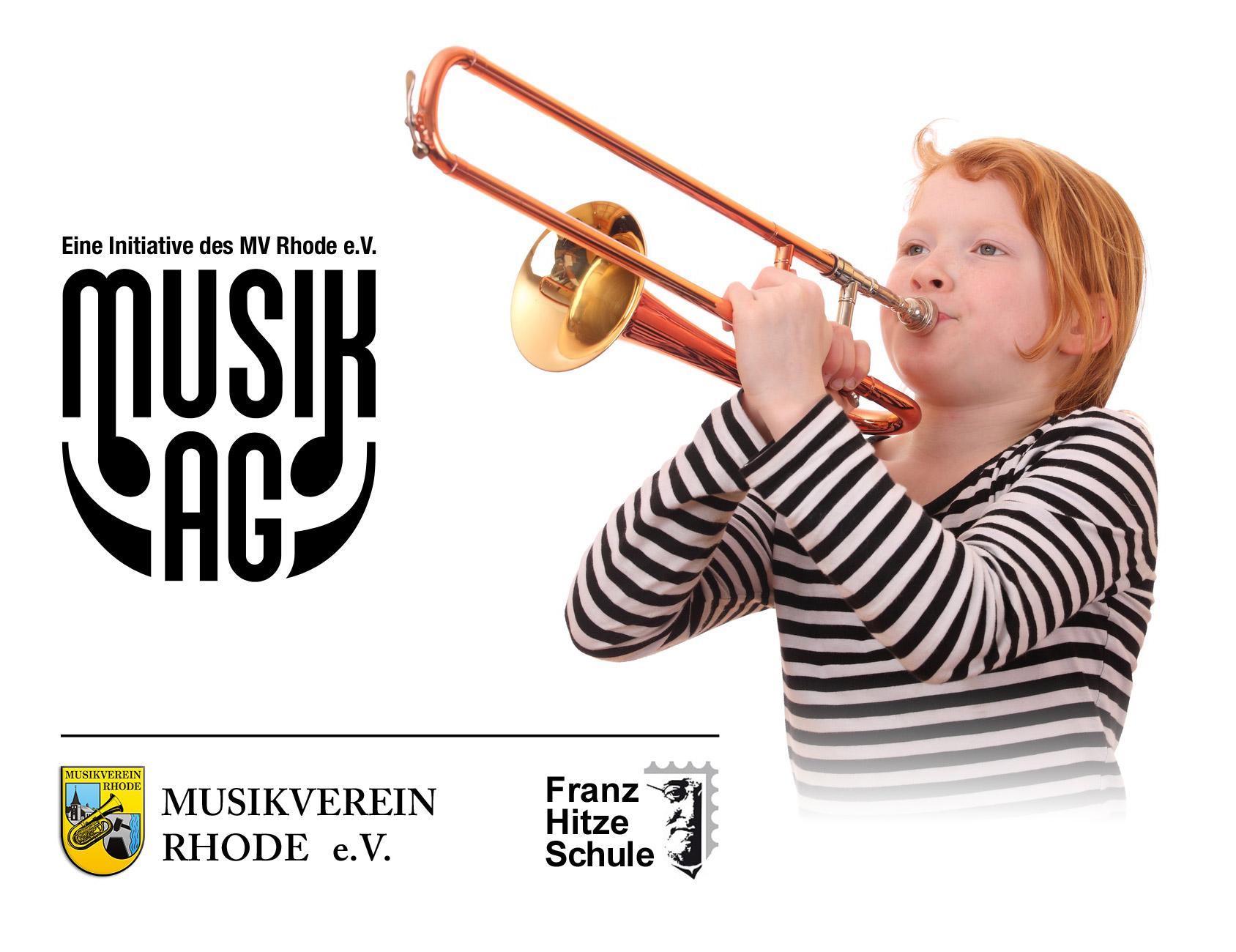 Musik-AG des Musikvereins Rhode und der Grundschule Rhode